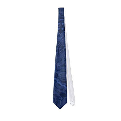 Corbata clásica de los hombres Blue Geek Motherboard Corbata de los hombres