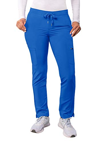 Adar Adición Fregar por Mujeres - Flaca Pierna Cargamento Cordón Fregar Pantalones - A6104 - Azul Real - L