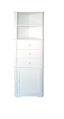 Premier Housewares Mobile ad angolo 161 x 32 x 55 cm, colore: Bianco