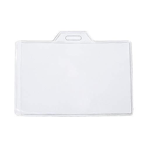 CKB Ltd 100x Value klar durchsichtig ID Badge Card Plastik Pocket Tasche Holder Ausweiskartenhalter Beutel Ausweishülle Kartenhalter Badgeholder
