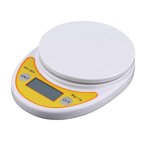 N / E Home WH-B04 5kg/1g Pantalla LCD Digital Peso Electrónico Hogar Cocina Báscula para Equilibrio de Alimentos Balanzas de Pesaje Nuevo hogar