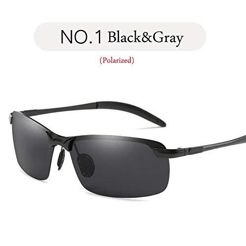 Sonnenbrille Sunglasses Polarisierte Sonnenbrille Herren Designer Classic Metall Sonnenbrille Damen/Herren Outdoor Travel Blackgray