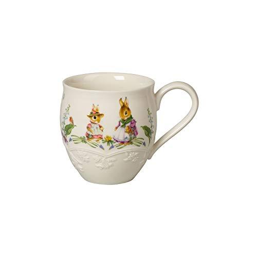 Villeroy & Boch Spring Fantasy Becher mit Henkel, dekorative Tasse für die Kaffeetafel, Premium Porzellan, bunt, 14.5 x 10.2 x 10.7 cm, 1,5x1x1