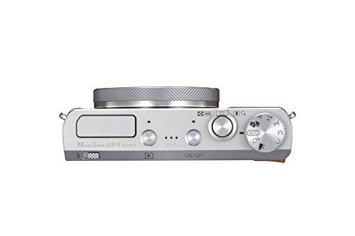 Canon PowerShot G9 X Mark II Kompaktkamera (20,1 MP, 7,5cm (3 Zoll) Display, DIGIC 7, optischer Bildstabilisator, Full-HD, WLAN, NFC, Bluetooth, Blendenautomatik; Zeitautomatik, 1080p), silber