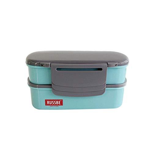 Somedays Kinder Bento Box Lunchbox, Japanische Frühstücksbox Brotdose Mit Doppelschicht, Trennwand Teilbare Jausenbox Eingebauter Gefrierflüssigkeit, Mikrowelle Zur Verfügung Brotdose