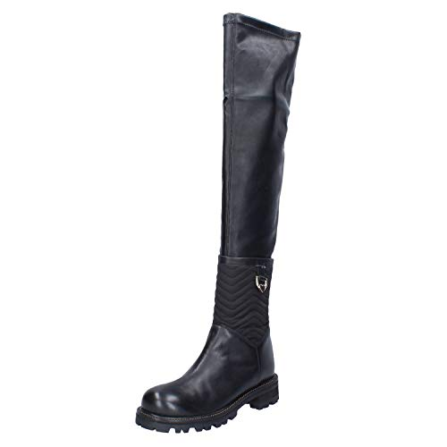 Twin-Set Stiefel Damen Leder schwarz 38 EU