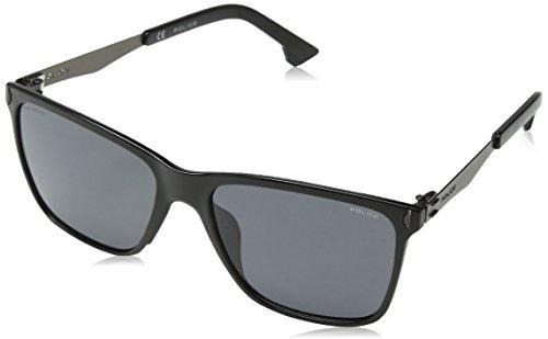 Police Herren Flow 2 Sonnenbrille, Schwarz (Shiny Black), 44