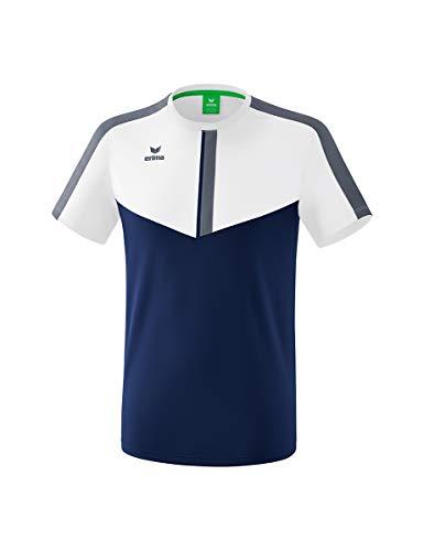Erima Kinder Squad Funktions T-Shirt, weiß/New Navy/Slate Grey, 164