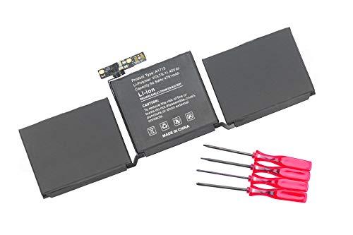 Batería A1713 para Apple MacBook Pro 13' A1708 Late 2016 Mid 2017 EMC 3164 2978 MLL42LL/A MLL42B/A MLL42Y/A MLL42FN/A MLUQ2LL/A MPXQ2LL/A MPXQ2B/A MPXQ2D/A MPXQ2FN/A [11.4V 54.5WH 4780MAH]