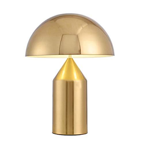 OPW Modernes Metall Pilz Tischlampe Moderne Nacht Schreibtisch-Licht-Eisen überziehen Lampshades Desktop-Lampen Home Hotel-Dekor-Beleuchtung,Gold,L