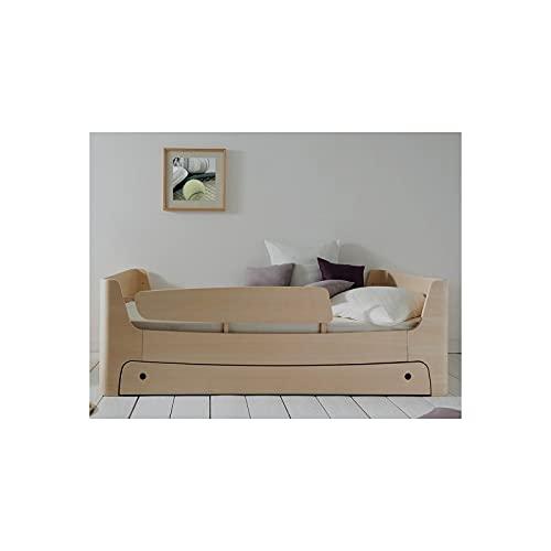 Alfred & Cie – Cama infantil 90 x 200 cm, con cajón y barrera izquierda
