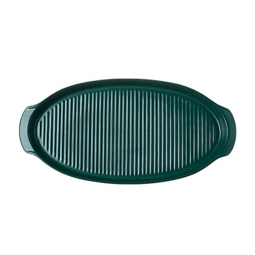 Hemoton Kitchen Oval Au Gratin Baking Dish Ceramic Baking Dish Nonstick Cookie Sheet Casserole Dish Dark Green