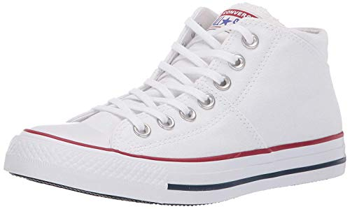Converse Women's Chuck Taylor All Star Madison Mid Top Sneaker, White/White/White, 7.5 M US