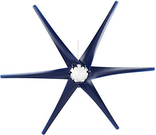 SALUTUYA Generador de Molino de Viento Estable de turbinas de Viento para Cargar maquinaria eólica de Casas(Blue, 24V)