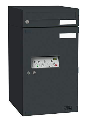 BURG-WÄCHTER Paketbox mit Brieffach, eBoxx EA 634 S ANT, Verzinkter Stahl, Anthrazit, 690x380x450 mm, Einwurf: 326x31 mm, Volumen: 20/98 l