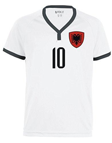 Aprom-Sports Albanien Kinder Trikot - Hose Stutzen inkl. Druck Wunschname + Nr. WSS WM 2018 (116)