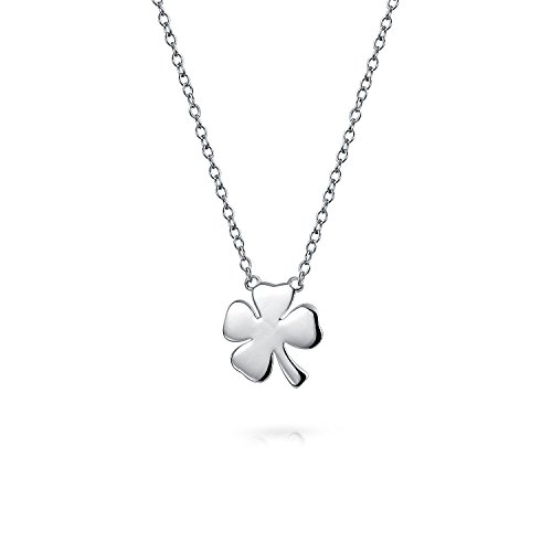 Bling Jewelry Irish Lucky Shamrock Good Luck Charm Four Leaf Clover Pendant Necklace for Women for Teen 925 Sterling Silver