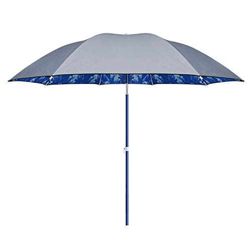 NNBD Paraguas de Pesca Redondos (2,2 m / 7,2 pies) Parasol inclinable Impermeable a Prueba de Sol Parasol Anti-Ultravioleta con Altura Ajustable