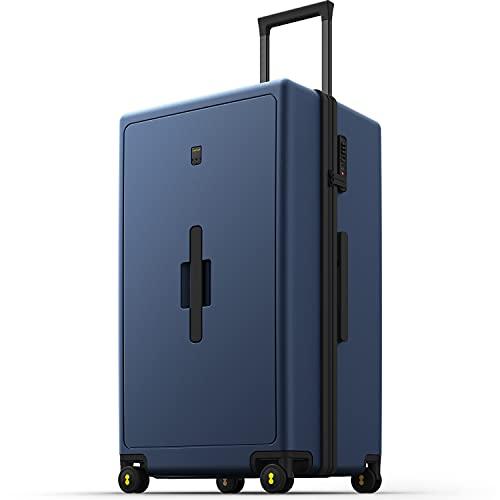 LEVEL8 Grande Bagaglio a Mano 28', Trolley Grande Rigido in PC, Valigia rigida Ultra Leggero con 8 Ruote e lucchetto TSA integrato, 99L, 75CM, Blu