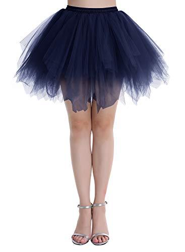 Dressystar - Tutù per balletto, in tulle, per sera/ballo, disponibile in 4 misure Blu marino S