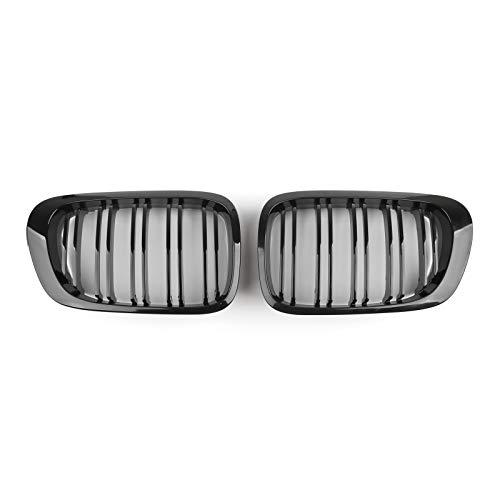 Artudatech Rejillas Frontales Coche, 1 Par Rejillas de Coche Parrilla de Delantera Malla Rejilla de Repuesto Grille Grill para B-M-W E46 Coupe Cabridet