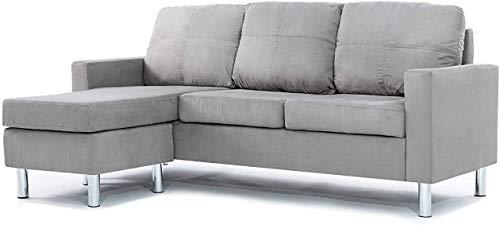 Fundas de sofá seccionales de 2 piezas, fundas de sofá en forma de L, protector de muebles, funda elástica para sofá con 2 fundas de almohada
