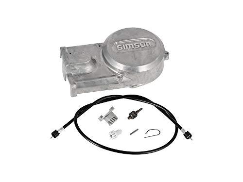 AKF Set: Lichtmaschinendeckel + Tachoantriebsset + Tachowelle - für Simson S51, S70, S53, S83