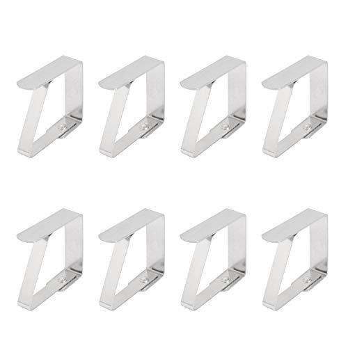 Siumir Edelstahl Tischdecke Clip Tischdeckenklammer 4.5 x 4 cm Tischdeckenhalter Feste Tischdecke 8 pcs
