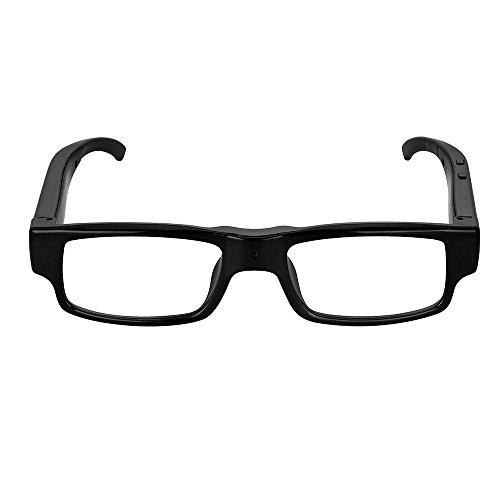 MatLogix 1920 x 1080 Spy Eyeglasses with Clear Lenses Hidden Camcorder DVR Video Recording High Definition HD Camera Eyewear 8GB Card