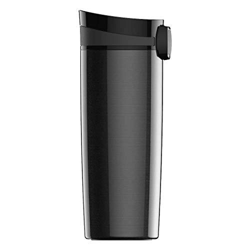 SIGG Miracle Black Thermobecher (0.47 L), schadstofffreier und isolierter Kaffeebecher, auslaufsicherer Coffee to go Becher aus Edelstahl