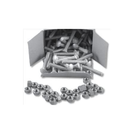 Hillman 240000 Carriage Bolt 3//16 x 4-Inch Silver Steel Zinc-Plated 100-Pack