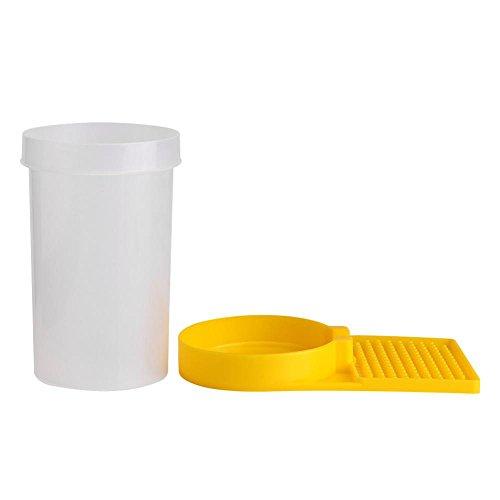 TOPINCN Alimentador de Abejas de plástico Herramientas de Agricultura Accesorios para Colmenas Tazón de Fuente de Abeja Equipo de Mantenimiento Herramienta