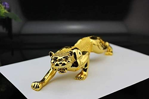 DXDSU Goud Plating Luipaard Sculptuur Strass Panter Animal Statue Arts Colophony ambachten huis en auto Dashboard Ornament