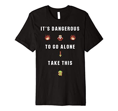 Legend of Zelda 8 Bit Cave Take This Sword Premium T-Shirt