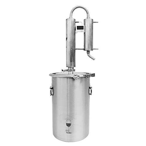 CLING Moonshine Still, destilador de Alcohol, Agua y Vino Multifuncional, termómetro Incorporado de Acero Inoxidable 304 para el hogar, pequeña máquina de elaboración automática