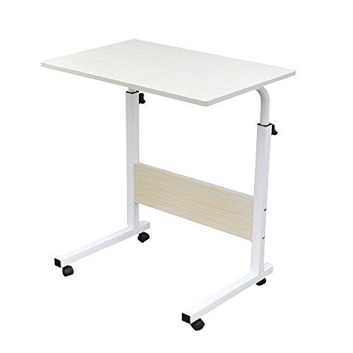 Soges 角度調節 昇降式サイドテーブル ノートパソコンスタンド 可移動デスク キャスター付きデスク仕事用 介護用 幅60cm×奥行40cm 70~90CM