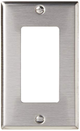 Leviton 84401-40 1-Gang Decora/GFCI Device Decora Wallplate , Device Mount, Stainless Steel
