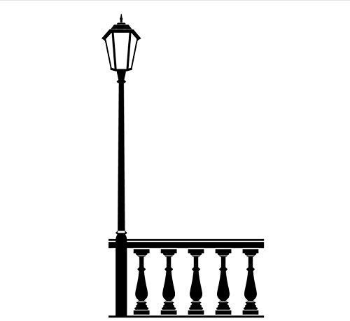 Baranda Lámpara De Calle Etiqueta De La Pared Vinilo Desmontable Decoración De La Pared Cinta Autoadhesiva Calcomanía De Arte Sala De Estar Decoración Del Hogar 31X59Cm
