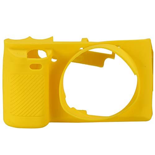 Topiky Estuche de Silicona para cámara, Cubierta Protectora Suave con Buen Tacto para Las cámaras Sony A6000(Amarillo)