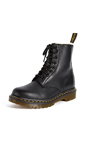 Dr. Martens Women's 1460 Serena Fashion Boot, Black Burnished Wyoming, 8
