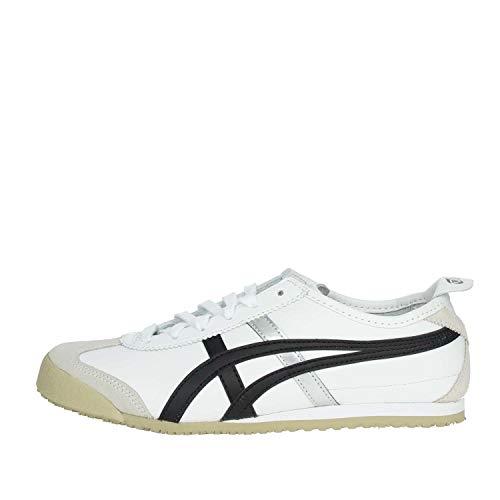 ASICS Mexico 66 Dl408-0190-6h, Unisex-Erwachsene Sneakers, Weiß (white/black 0190), 39.5 EU