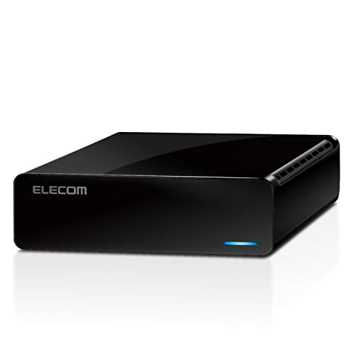 エレコム 外付けハードディスク 2TB USB3.2(Gen1) テレビ録画/パソコン対応 静音ファンレス設計 ELD-FTV020UBK