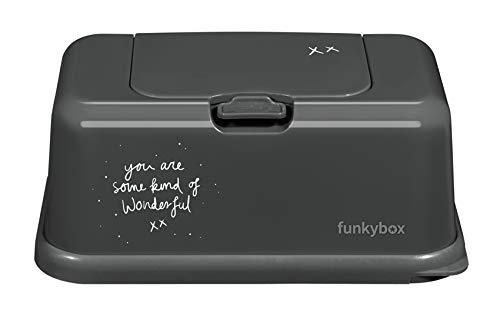 Funkybox FB32 You Are Some Kind of Wonderful - Dispensador para Toallitas, Gris (Dark Grey)