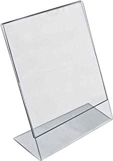 Azar Displays 112712 L-Shaped Acrylic Sign Holder (10 Pack), 9