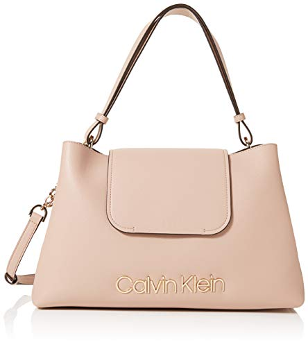 Calvin Klein - Dressed Up Top Handle, Bolsos maletín Mujer, Rosa (Nude),...