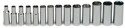 Wright Tool 355 3/8' Drive, Deep Metric Socket Set 6mm - 19mm (14-Piece)