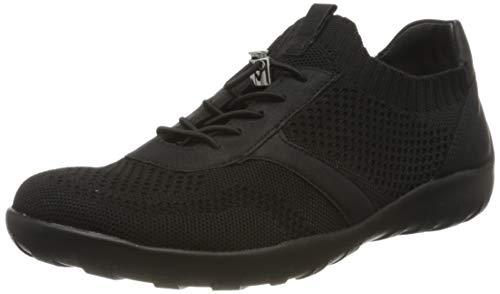 Remonte R3511, Zapatillas sin Cordones Mujer, Negro (Schwarz/Schwarz 01), 36 EU