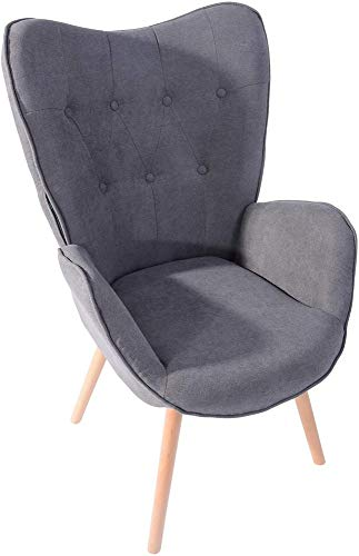 MEUBLE COSY Lehnstühle Vintager Retro Sessel Polstersessel Stoff Lounge Sessel Clubsessel Fernsehsessel
