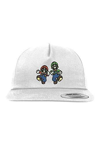 Youth Designz Kinder Junior Cap Kappe Modell Mario & Luigi - Weiß