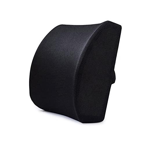 Soporte para almohadas lumbares al aire libre, soporte lumbar Almohada Memoria de espuma de espuma Cojín apoya la parte baja de la espalda para una postura fácil en el automóvil, la oficina, el avión
